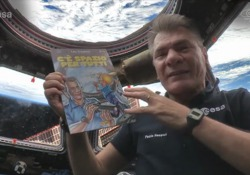 L'eroe dei fumetti con l'astronauta italiano