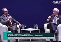 Il Maestro intervistato dal direttore del Corriere della Sera Luciano al Bello dell'Italia, nella tappa di Ravenna, ricorda la lunga carriera e rivendica «l'essersi schierato dalla parte dell'Italia, anche a rischio di essere etichettati»