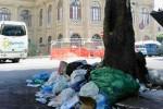 Vicino alla scuola, ai monumenti e pure al Teatro Massimo: Palermo ancora tra i rifiuti
