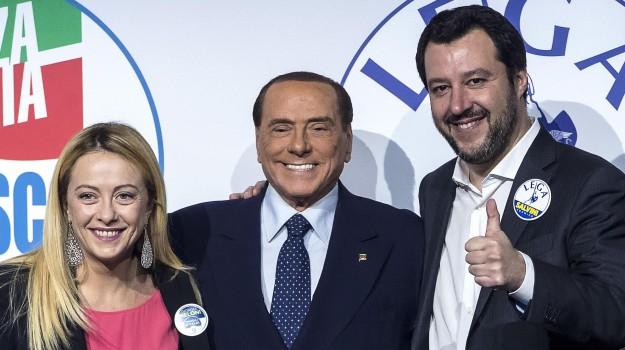 Elezioni regionali, forza italia, Lega, Giorgia Meloni, Matteo Salvini, Silvio Berlusconi, Sicilia, Politica
