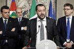 """Consultazioni, Salvini: """"Sì a un governo di almeno 5 anni coinvolgendo M5s"""""""