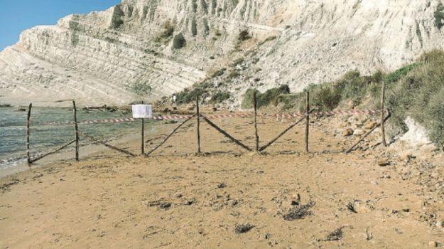 rischio crolli scala dei turchi, Scala dei turchi chiusa, scala dei turchi divieti, Agrigento, Cronaca