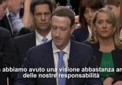 Il fondatore del social network fa mea culpa davanti al Senato Usa