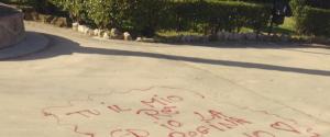 Palermo, Villa Bonanno deturpata con lo spray rosso: vandali in azione nella notte