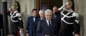 Il Presidente Sergio Mattarella alla fine delle Consultazioni
