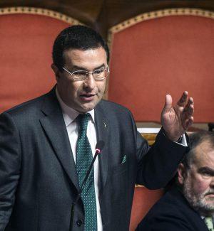 Stefano Candiani (S) in Aula al Senato
