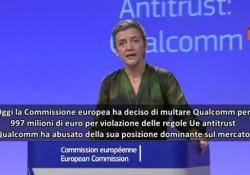 L'annuncio della commissaria alla Concorrenza, Margrethe Vestager