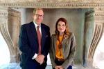I vertici del Consorzio per la Tutela dei Vini Valpolicella: Andrea Sartori, Presidente del Consorzio e Olga Bussinello, Direttore