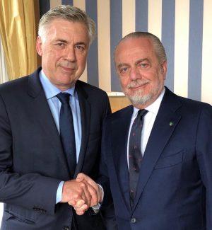 Carlo Ancelotti e Aurelio De Laurentiis