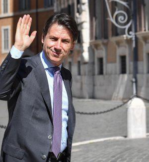 Il presidente del consiglio incaricato Giuseppe Conte arriva a Montecitorio per le consultazioni