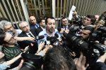 Luigi DI Maio dopo il vertice pomeridiano con Matteo Salvini
