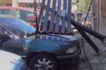 Passerella cede in via Lo Faso a Palermo, le immagini dopo il crollo
