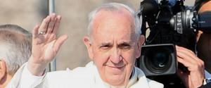 Papa Francesco durante la sua visita a Lampedusa