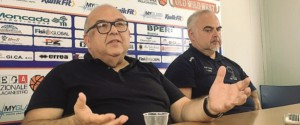 Il patron Salvatore Moncada e l'allenatore Franco Ciani (Foto di Domenico Vecchio)