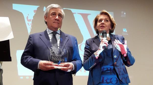 Tajani premio Chinnici, Antonio Tajani, Enna, Politica