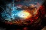 Rappresentazione grafica di un buco nero supermassiccio (fonte: NRAO/AUI/NSF)