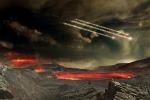 Rappresentazione artistica della Terra primtiva (fonte: Nasa Goddard Space Flight Center, Conceptual Image Lab)