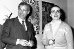 Carlo Casini e Vittoria Quarenghi del ''Movimento per la vita'' fotografati nella sede del movimento in attesa dei risultati definitivi del referendum nel 1981 ANSA