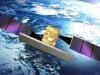 Rappresentazione artistica di un satellite del più grande programma spaziale italiano, la costellazione Cosmo SkyMed per losservazione della Terra (fonte: ASI TV)