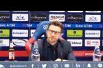 """""""Biscotto"""" tra Cagliari e Roma? Il video della polemica tra un giornalista e il tecnico Di Francesco"""