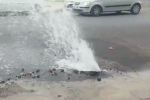 Palermo, tubo rotto alla Zisa: strada inondata d'acqua