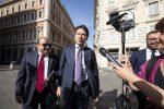 Giuseppe Conte all'arrivo a Montecitorio