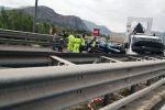 Incidente a Carini, immagini dall'autostrada: grave motociclista