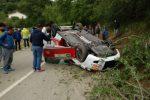 Auto si ribalta alla Targa Florio, paura ma nessun ferito: il video dell'incidente