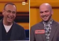 Il siparietto durante una puntata del quiz di Rai Uno