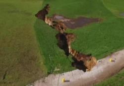 L'enorme frattura è lunga 200 metri e profonda 20