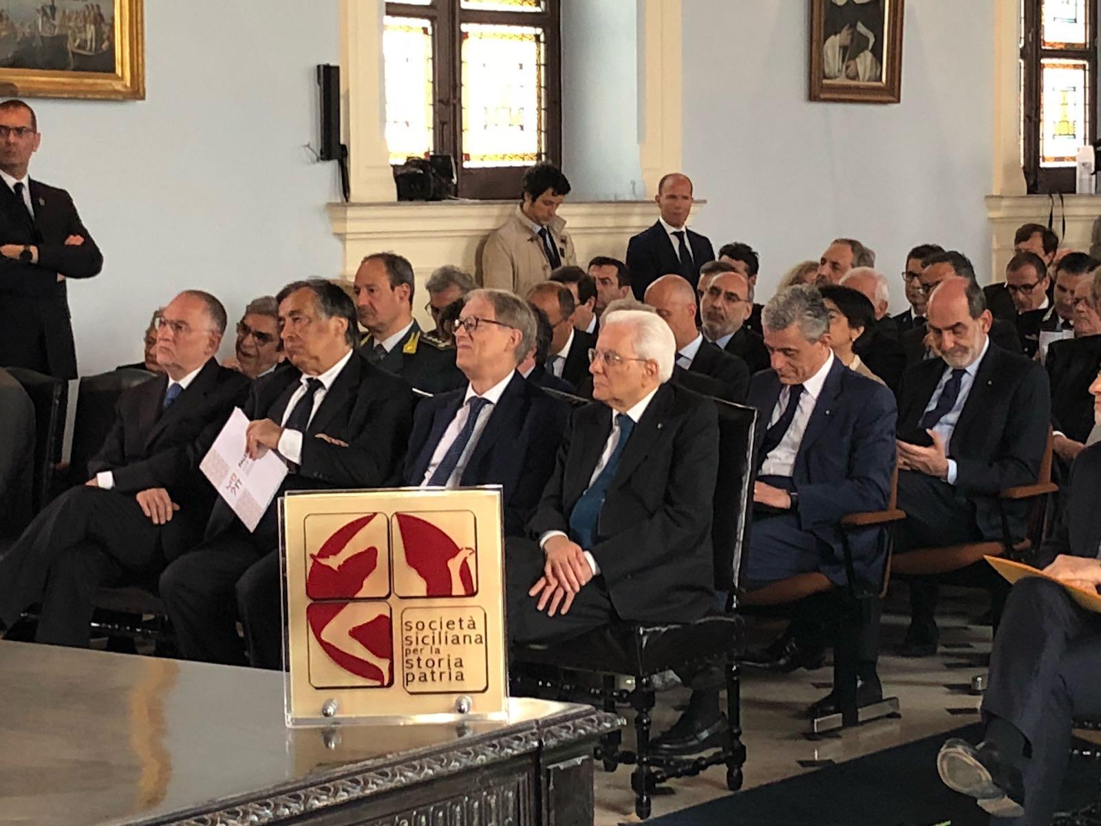 Il Presidente Mattarella a Palermo visita le opere di Mario Valenti