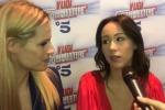 Michelle Hunziker e Aurora Ramazzotti, siparietto alla presentazione di «Vuoi scommettere?»