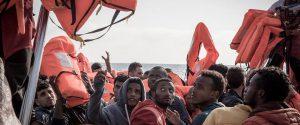 Migranti soccorsi dalla nave Aquarius di Sos Mediterranee