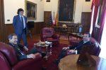 Da sinistra Nello Musumeci, il deputato Tony Rizzotto e il commissario della Lega, Stefano Candiani