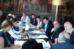 Un momento dei lavori di giovedì pomeriggio a Ferrara col sindaco Corrado Bonfanti