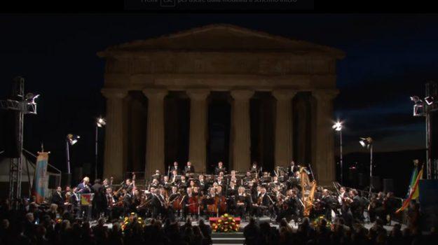 Concerto dell'Orchestra sinfonica siciliana alla Valle dei Templi per l'anniversario dell'Autonomia