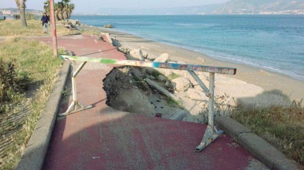 pista ciclabile dissestata messina, Messina, Cronaca