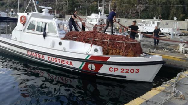 sequestro rete spadara lipari, Messina, Cronaca