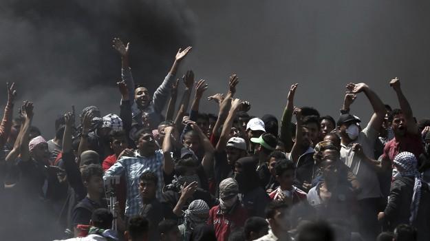 gerusalemme ambasciata usa, scontri israele palestina, striscia di gaza, Sicilia, Mondo