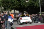 Targa Florio al via da Palermo: Campedelli in testa, protesta degli operai Blutec