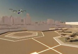 I rendering dei progetti per le stazioni dei taxi volanti per il trasporto passeggeri
