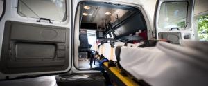 Un'ambulanza al Pronto Soccorso