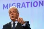 Il commissario Ue per l'immigrazione e gli affari interni Dimitris Avramopoulos.