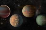 Rappresentazione artistica di pianeti esterni al Sistema Solare (fonte: NASA/Jpl-Caltech)