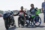 Disabili in pista in moto al Tazio Nuvolari per corsi guida