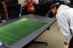 Le partite di calcio diventano ologrammi 3D sul tavolo di casa (fonte: K. Rematas/Youtube)