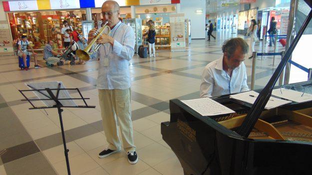 Festa della Musica in aeroporto, esibizione jazz fra i passeggeri a Palermo