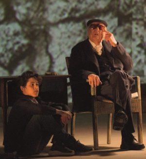 Andrea Camilleri in scena al teatro Greco di Siracusa