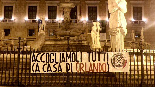 Aquarius, migranti, Leoluca Orlando, Matteo Salvini, Palermo, Politica