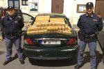 Jaguar con 100 chili di hashish, arrestato 45enne di Bagheria sfuggito a blitz